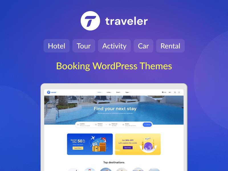 Traveler - Travel Booking WordPress Theme