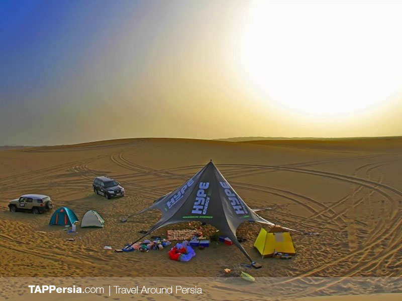Camping at Maranjab Desert