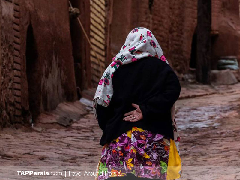People's clothing in AByaneh