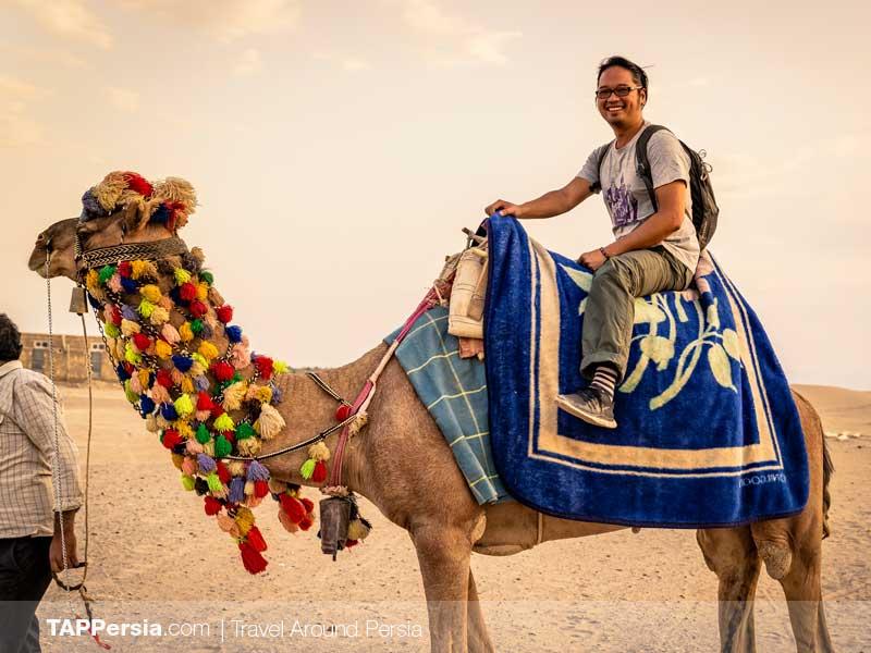 Camel Riding Yazd Desert - Iran Budget Tour | TAP Persia