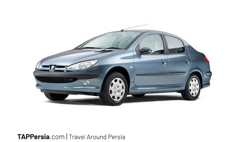 Peugeot 206 SD Car Rental Iran TAP Persia