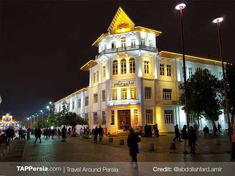 Shahrdari Square at Night - Rasht Nightlife - TAP Persia