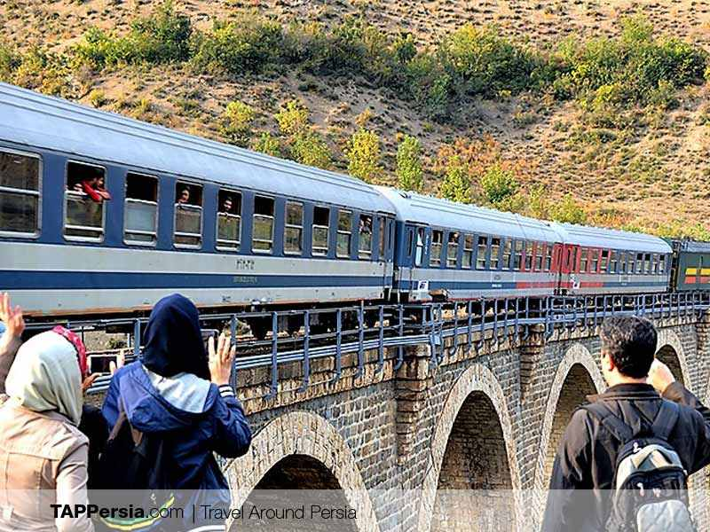 College tour and colleague's tour - train in Iran