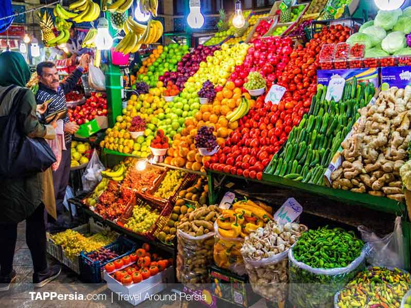 Tajrish Bazaar Fruits - Tehran Top Attraction