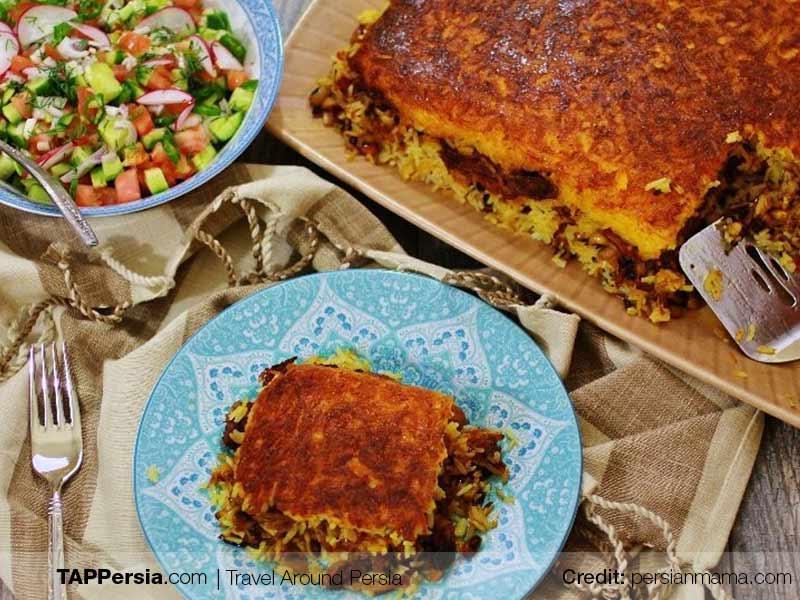 Tahchin Mahicheh - Persian Dishes