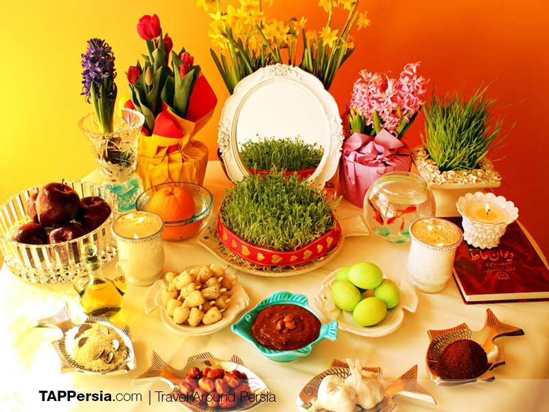 Haft-Sin - Traditional Table Decoration of Nowruz