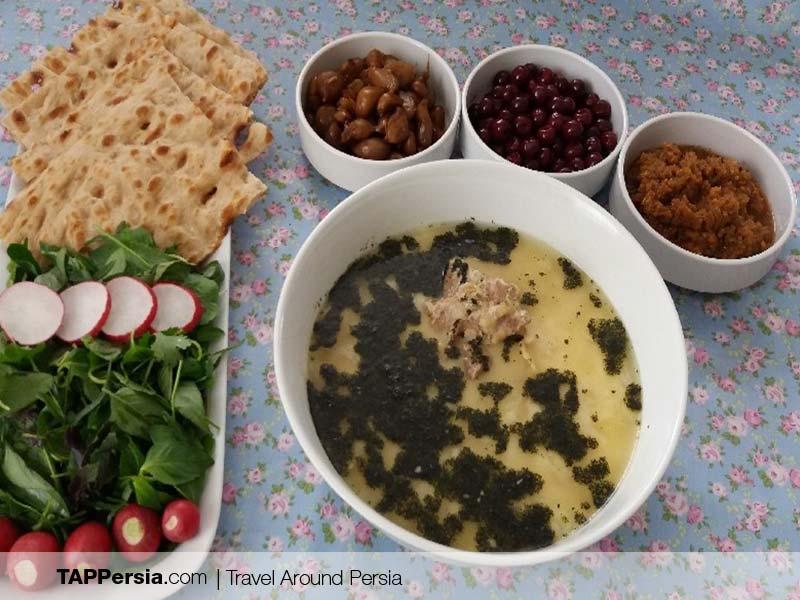 Iranian Food - Iran - abgoosht dogooleh dodar
