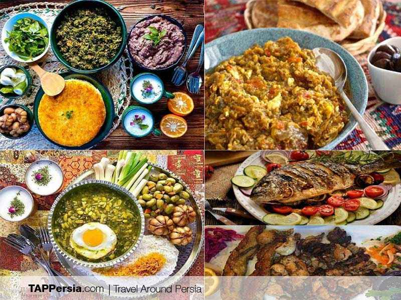 Shahrdari Square in Rasht - Iran - Food
