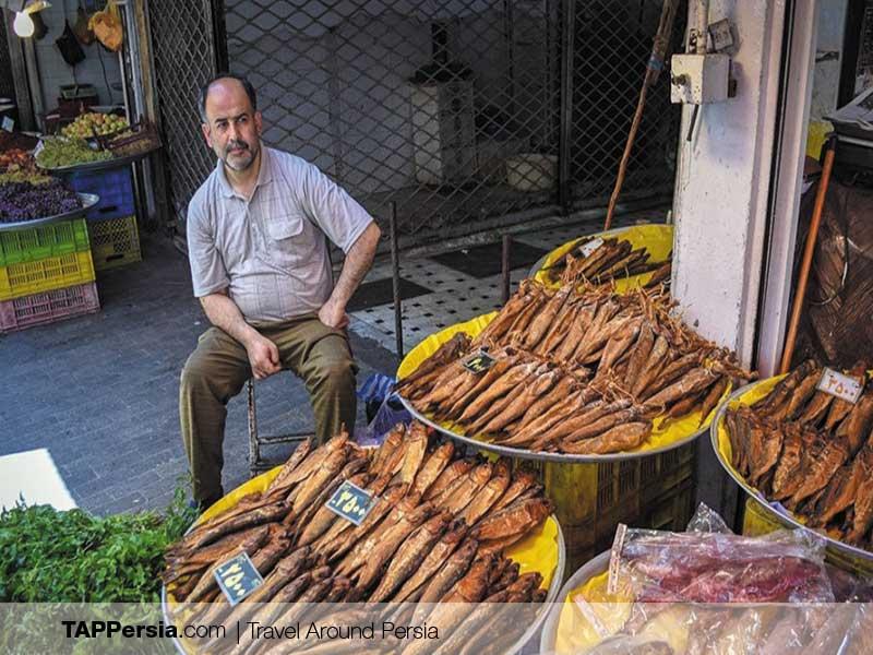 Rasht Gran Bazaar - Iran - salted Fish
